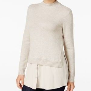 Style & Co. Mock-neck Layered-look Sweater